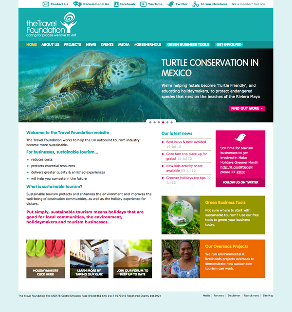 The Travel Foundation website